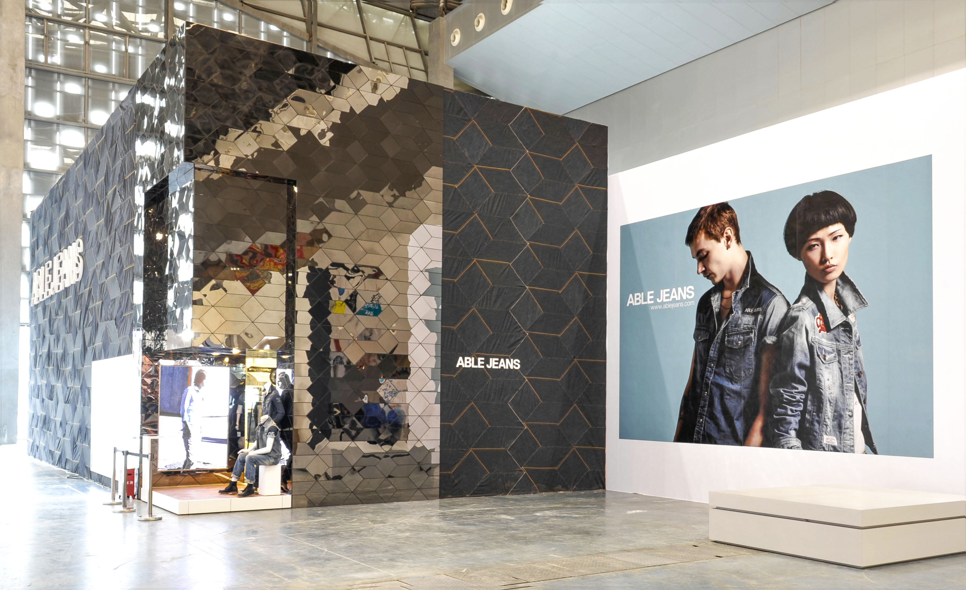 Able Jeans novomania fair booth Shanghai