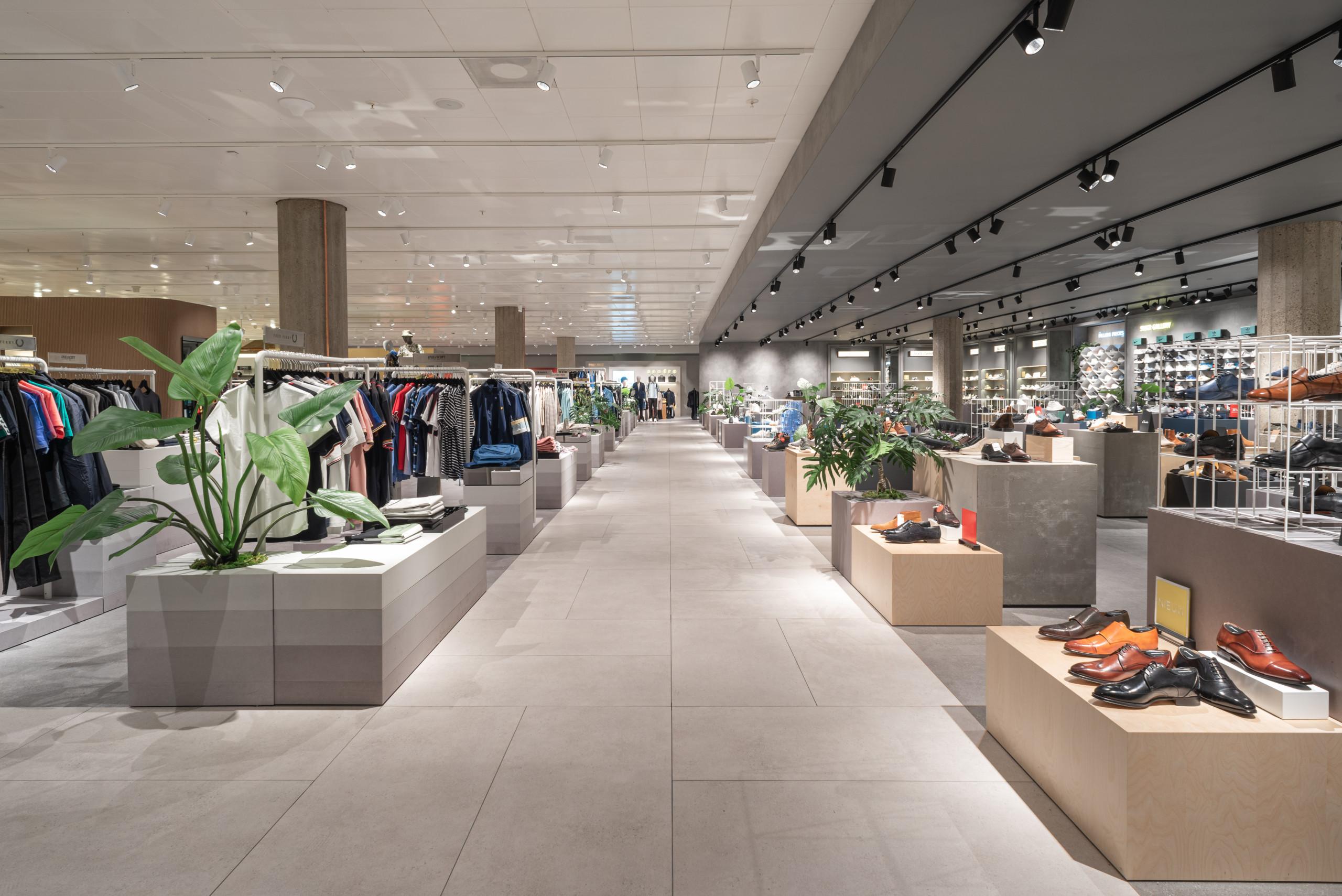 De Bijenkorf Rotterdam men's clothing