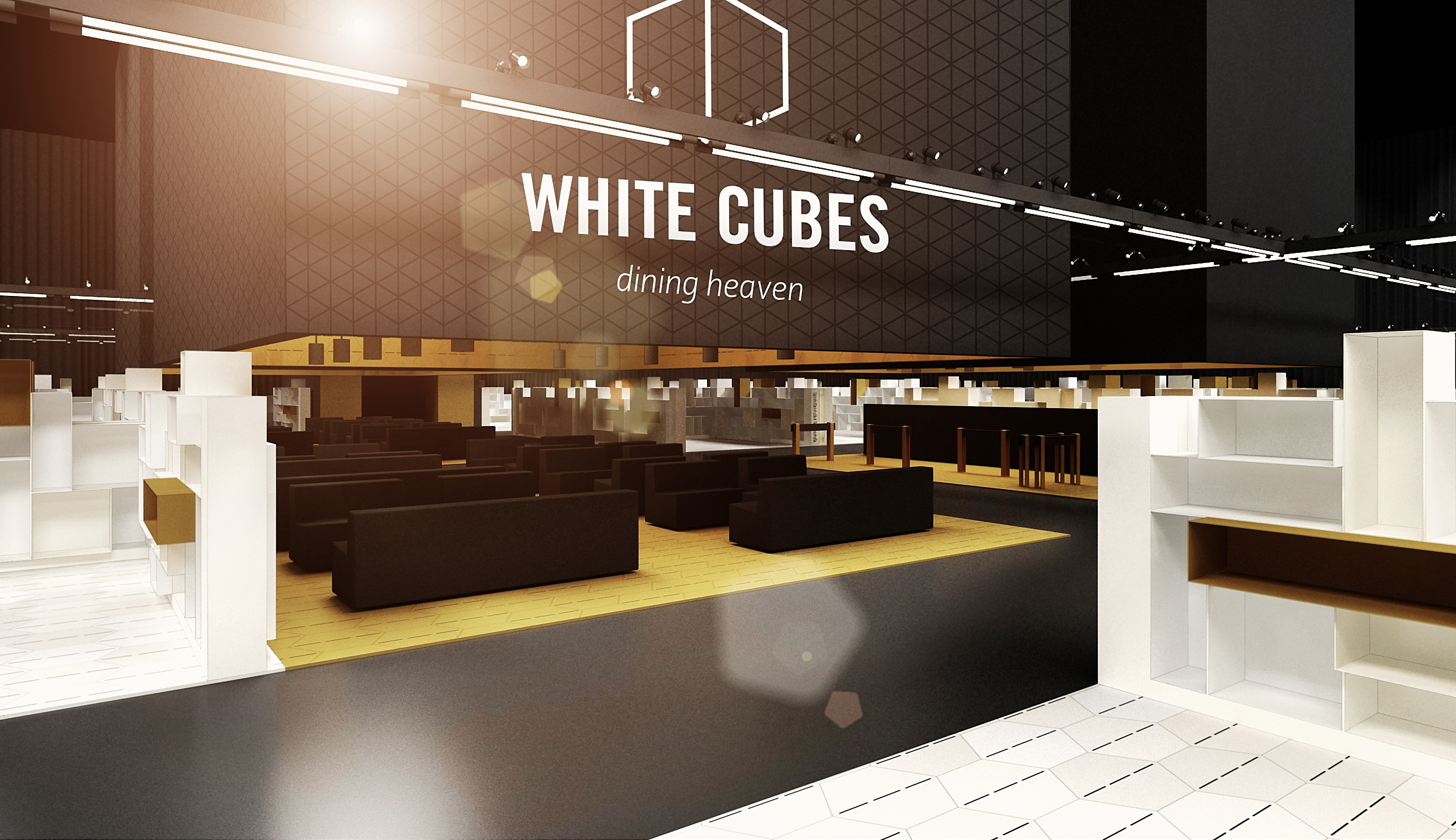 White cubes fair booth