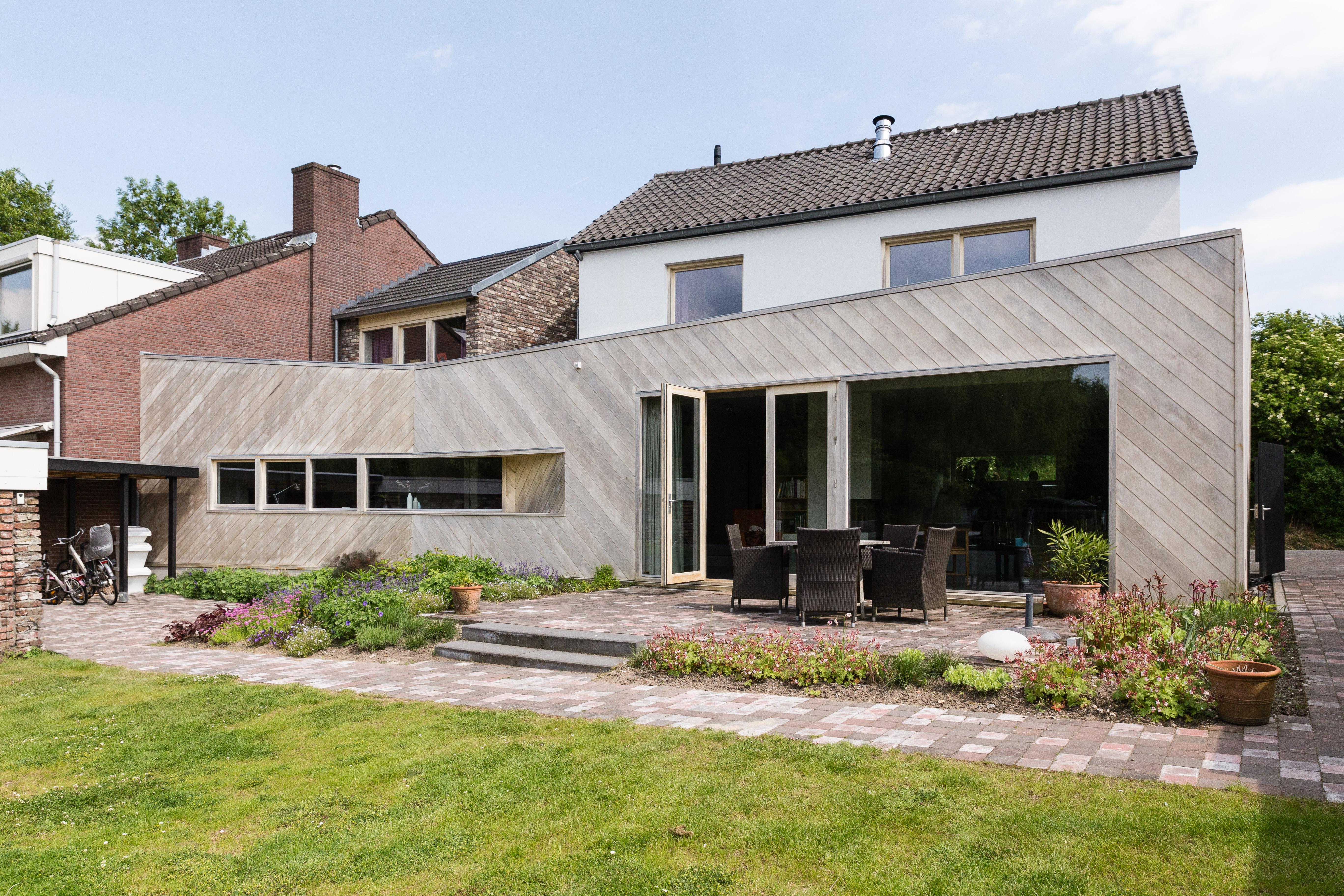 Garden housing design large windows