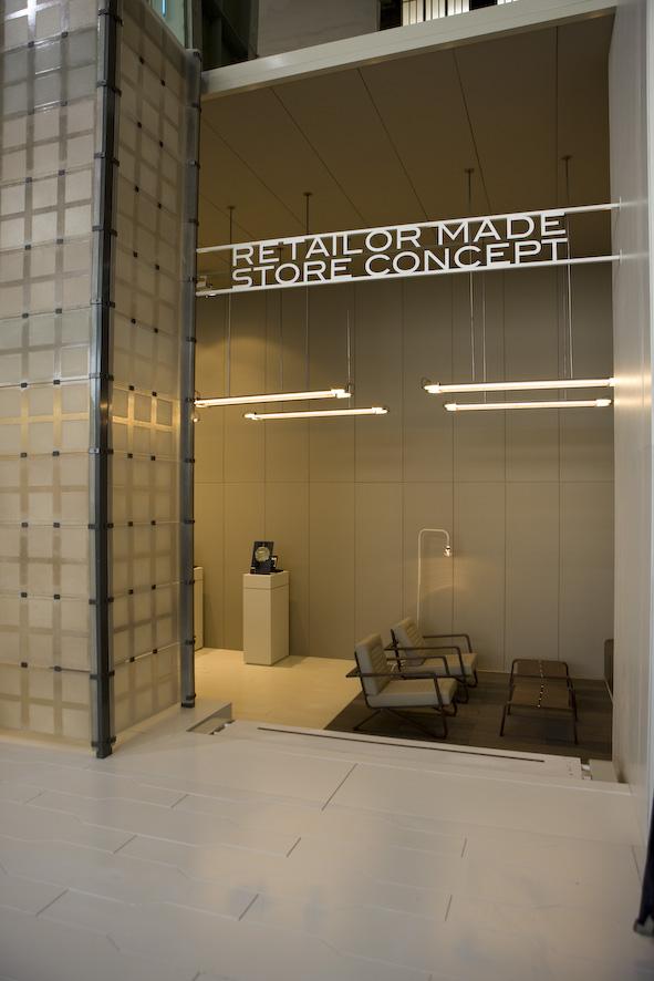 Concept retailer store G-star inside of hanger