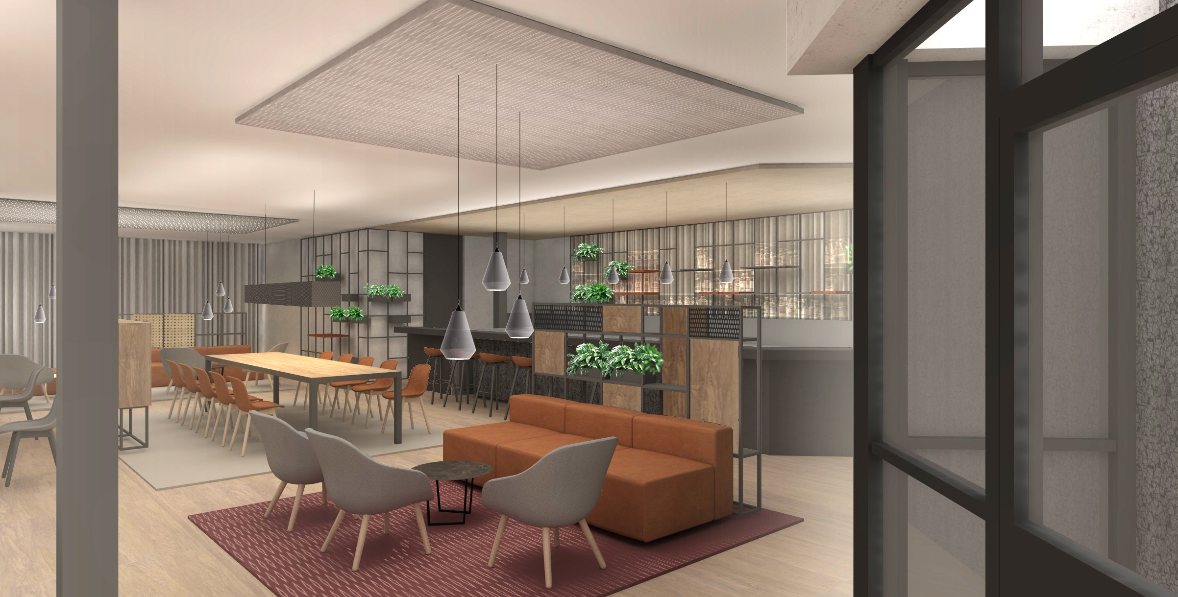 Mecc maastricht cafe 3d design