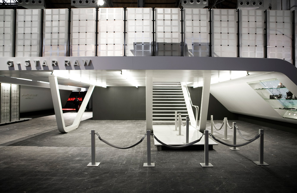 G-star raw Barcelona entrance mothership