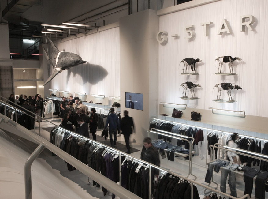 G-star Barcelona Clothing display