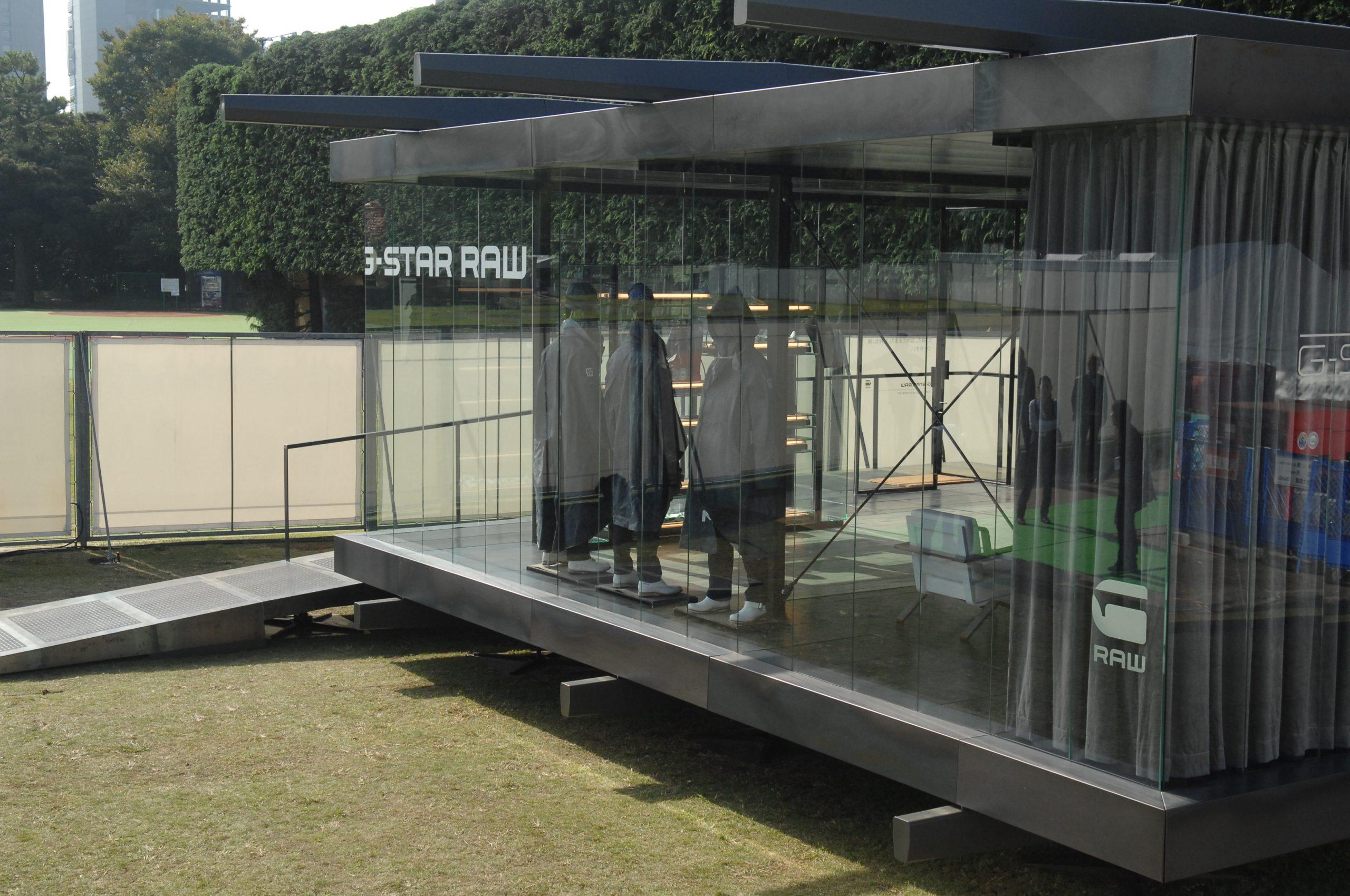 G-star pavilion Florence Tokyo Berlin