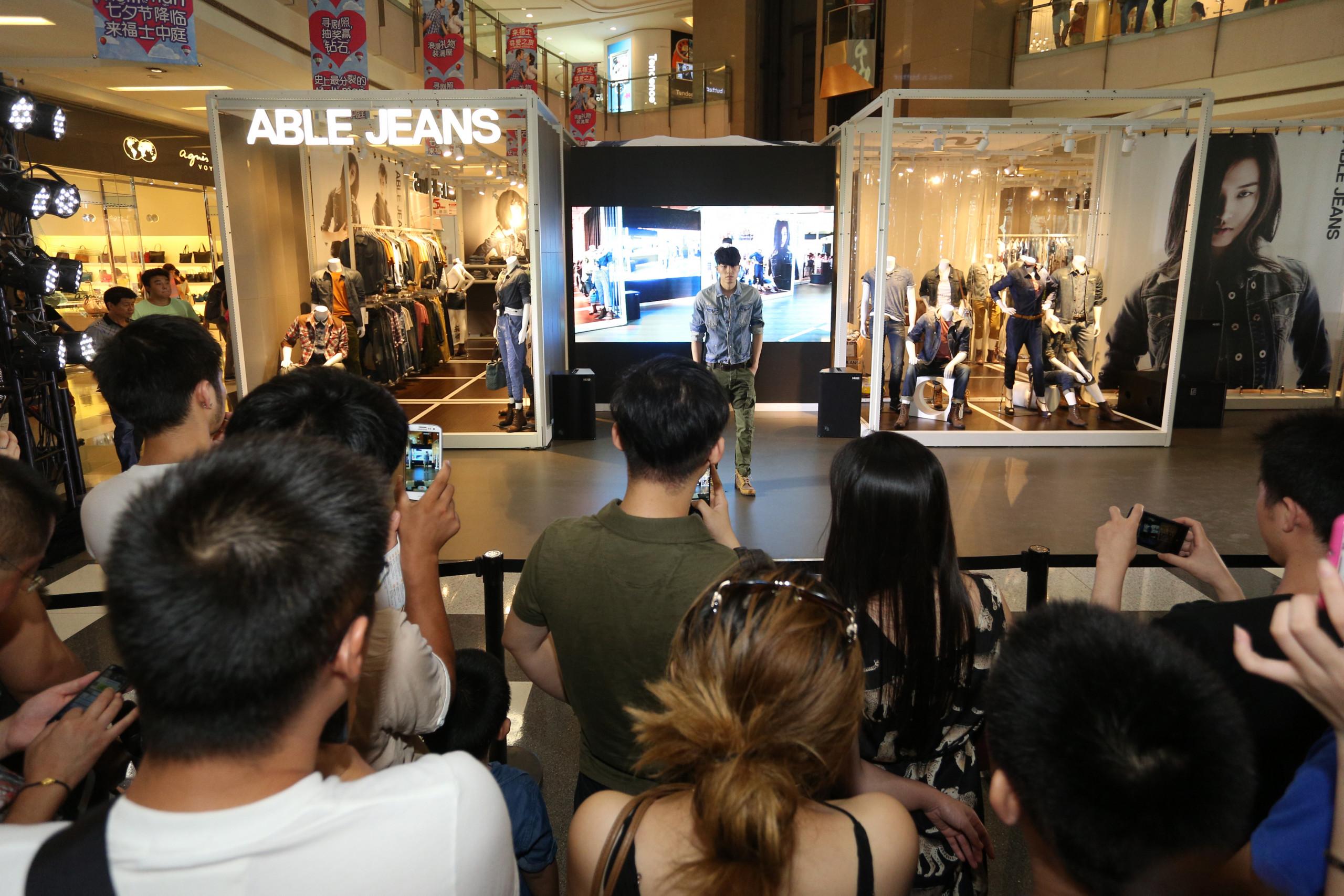 Able Jeans pop-up fashion show Shanghai