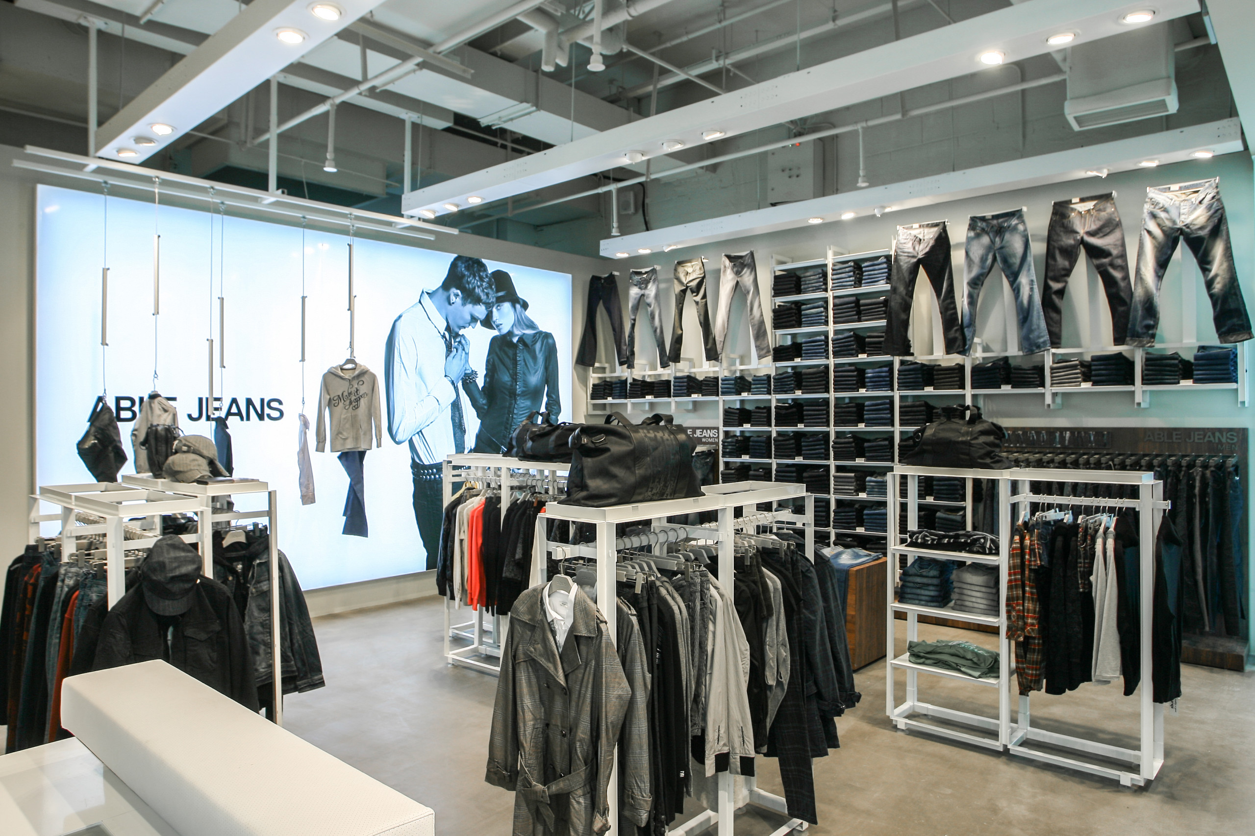 Able jeans flagship store Shanghai product display design