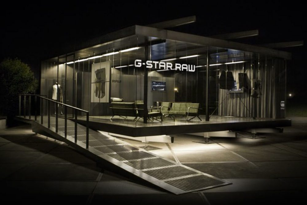 G-star pavilion fair booth in florence / tokyo / berlin